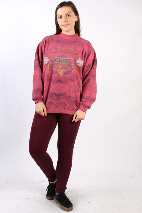 Vintage Other Brands Detroit Baseball Sweatshirt XL Pink -SW1757-0