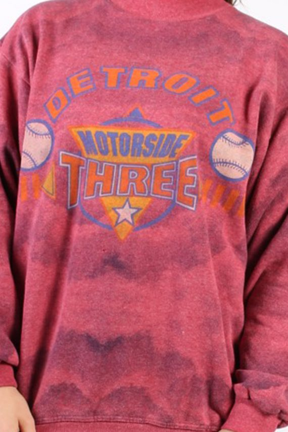 Vintage Other Brands Detroit Baseball Sweatshirt XL Pink -SW1757-73005
