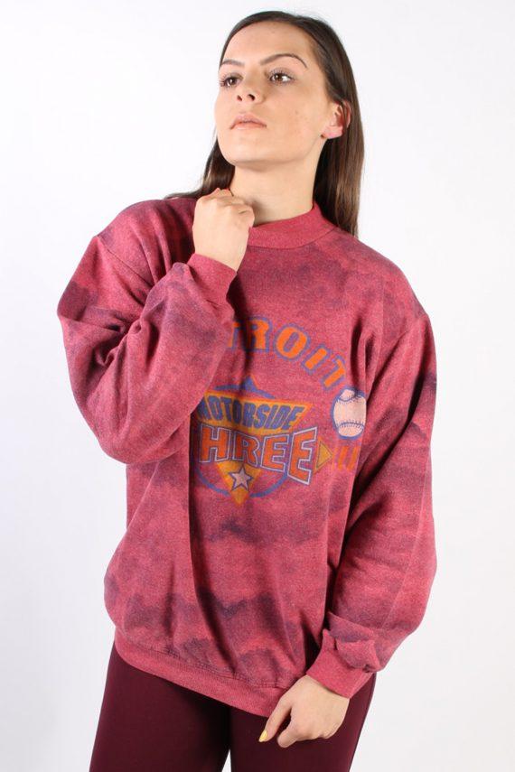 Vintage Other Brands Detroit Baseball Sweatshirt XL Pink -SW1757-73006
