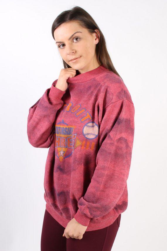 Vintage Other Brands Detroit Baseball Sweatshirt XL Pink -SW1757-73007