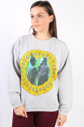 Batman Round Neck Sweatshirt Grey M