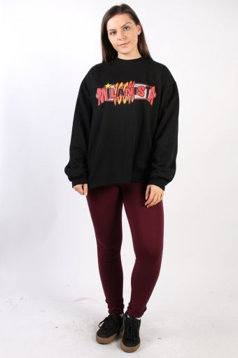 Vintage Other Brands Milanista Round Sweatshirt S Black -SW1761-73025
