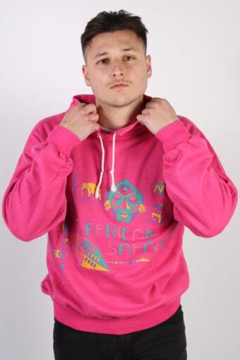 90s Collared Sweatshirt African Safari Sport Pink M