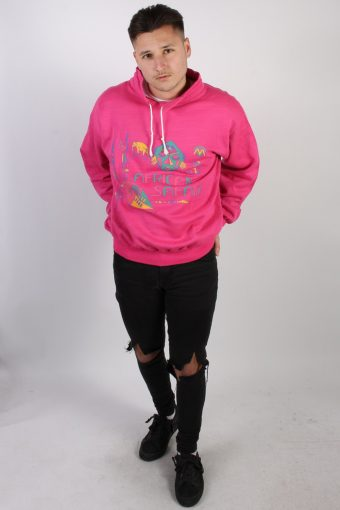 Vintage African Safari Sport Sweatshirt M Pink -SW1773-74202