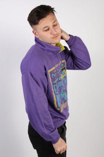 Vintage Stylish Adventure Sport Sweatshirt L Purple -SW1774-74209