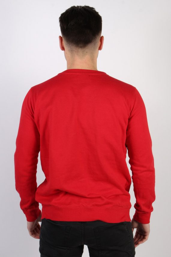 Vintage Chapter Young Print Sweatshirt M Red -SW1776-74219