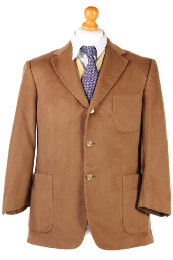 Burberry London Soft Woven Blazer Jacket Brown L