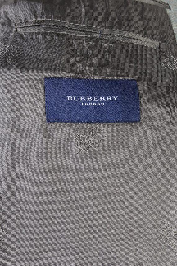 Vintage Burberry London Windowpane Woven Blazer Jacket - Chest 48 Olive BR783-74594