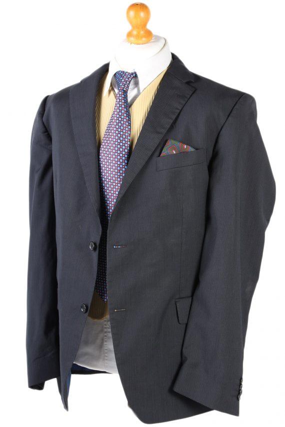 Vintage Tommy Hilfiger Striped Blazer Jacket - Chest 47 Navy BR793-74632