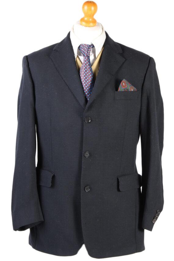 Vintage Burberry London Plain Blazer Jacket - Chest 44 Black BR800-0