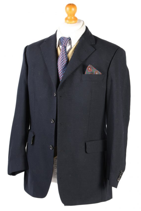 Vintage Burberry London Plain Blazer Jacket - Chest 44 Black BR800-74660