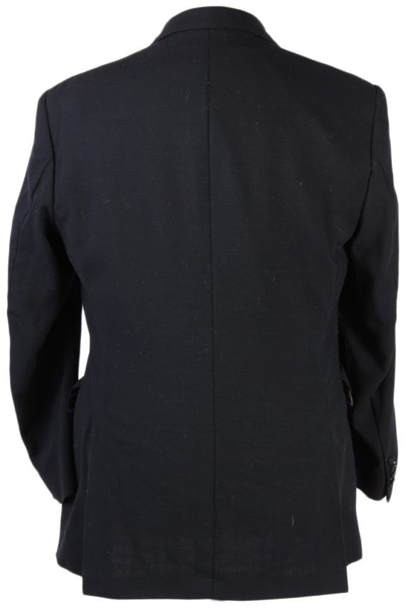 Vintage Burberry London Plain Blazer Jacket - Chest 44 Black BR800-74661