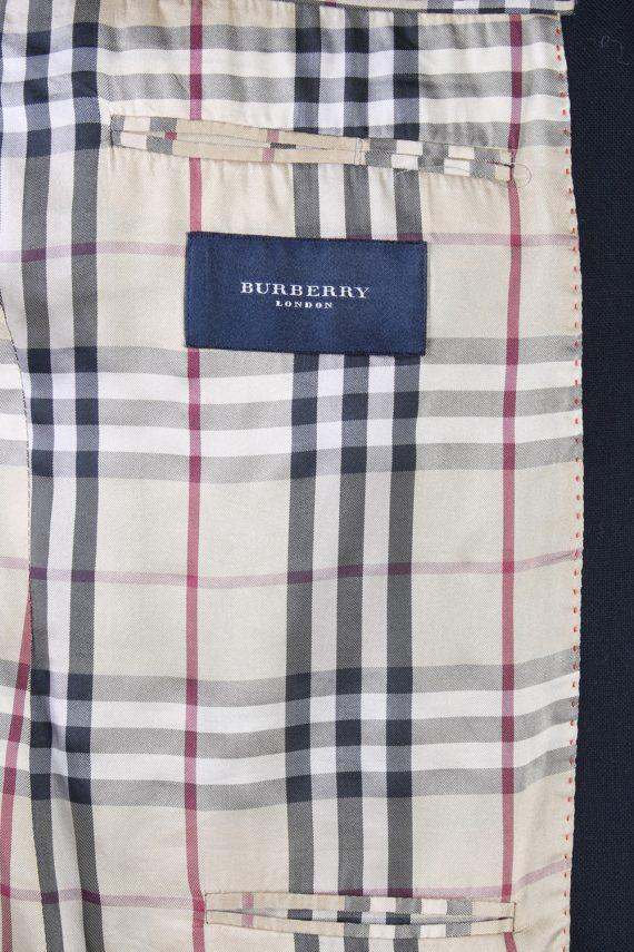 Vintage Burberry London Plain Blazer Jacket - Chest 44 Black BR800-74662