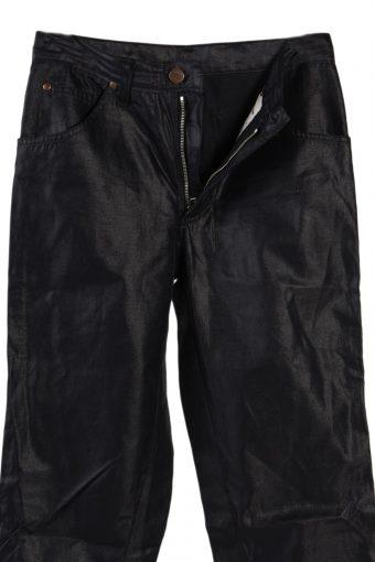 Vintage Shinny Wrangler Womens Jeans Waist:27 Black J2804-75534