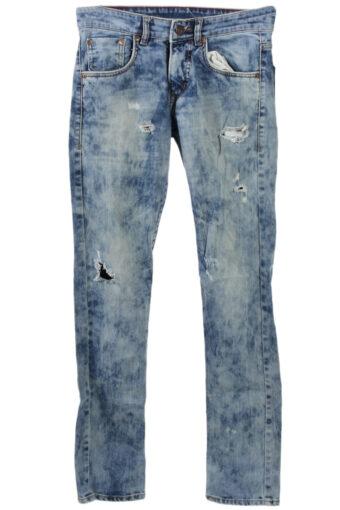 Levi's 504 Ripped Denim Jeans Skinny Fit Mens W30 L34
