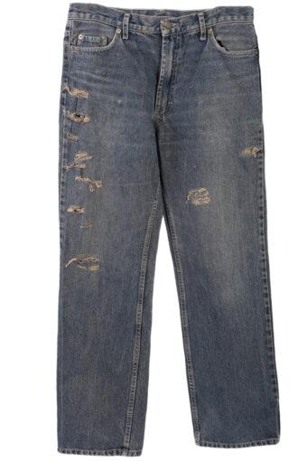 Levi's 501 Ripped Denim Jeans Mens W33 L32