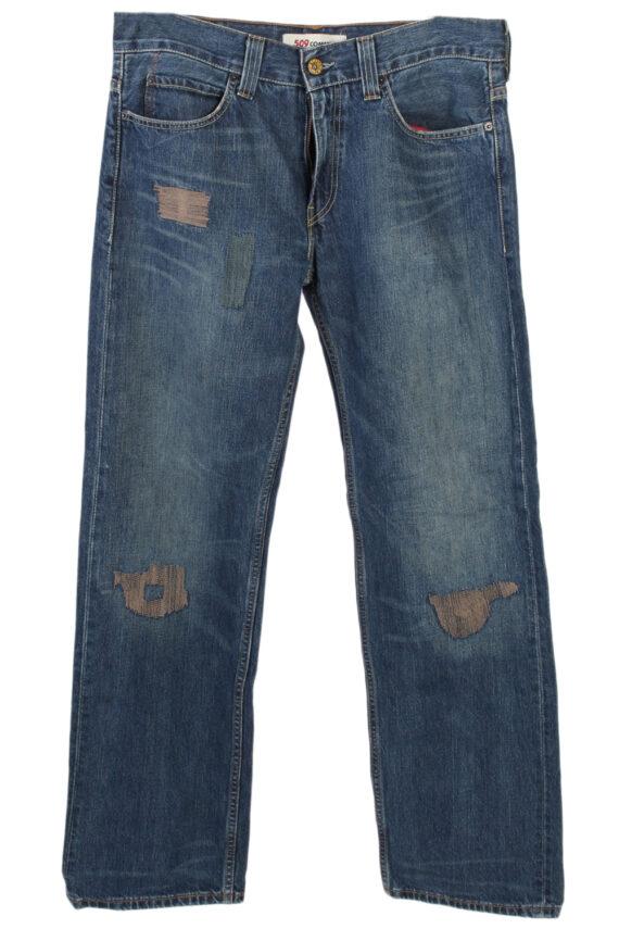 Vintage Levi's Stitch Designer 509 Comfort Jeans Waist:37 Navy J2968-0