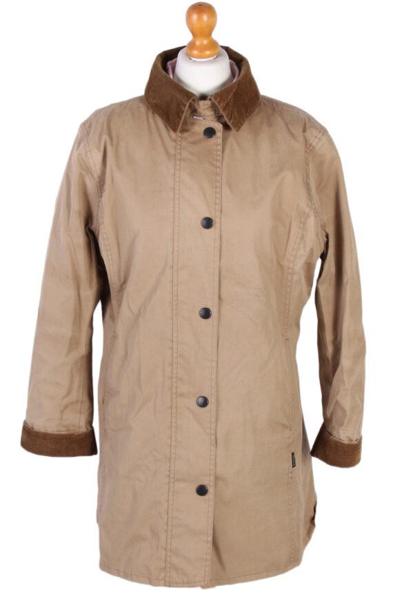 Vintage Barbour Waterproof Jacket Coat Bust 43 Beige -C1174-0