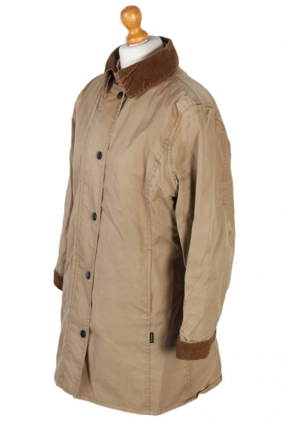 Vintage Barbour Waterproof Jacket Coat Bust 43 Beige -C1174-79327