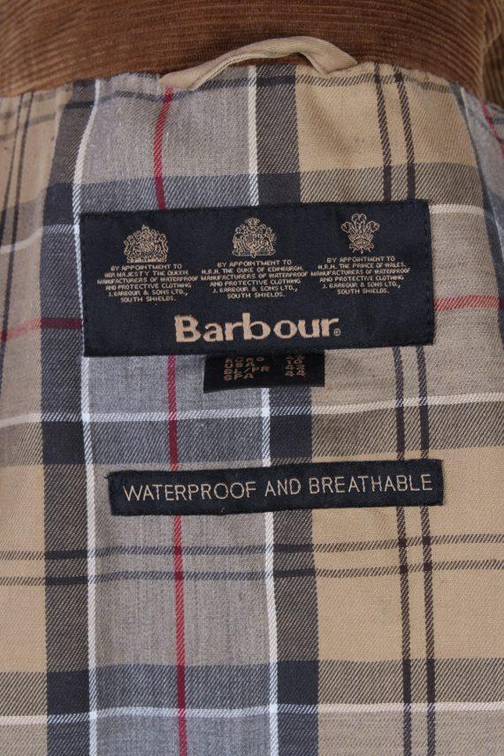 Vintage Barbour Waterproof Jacket Coat Bust 43 Beige -C1174-79330