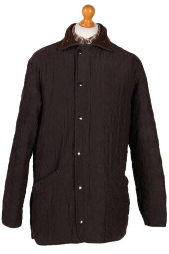 Vintage Barbour Quilt Polar Waxed Coat Jacket Chest 47 Brown