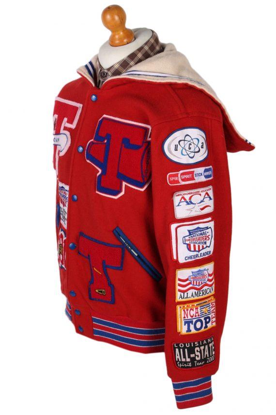 Vintage Awards USA Custom Made Jessica Bomber Jacket Bust 46 Red -C1213-78258