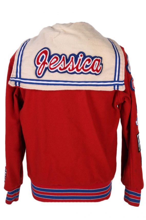 Vintage Awards USA Custom Made Jessica Bomber Jacket Bust 46 Red -C1213-78259