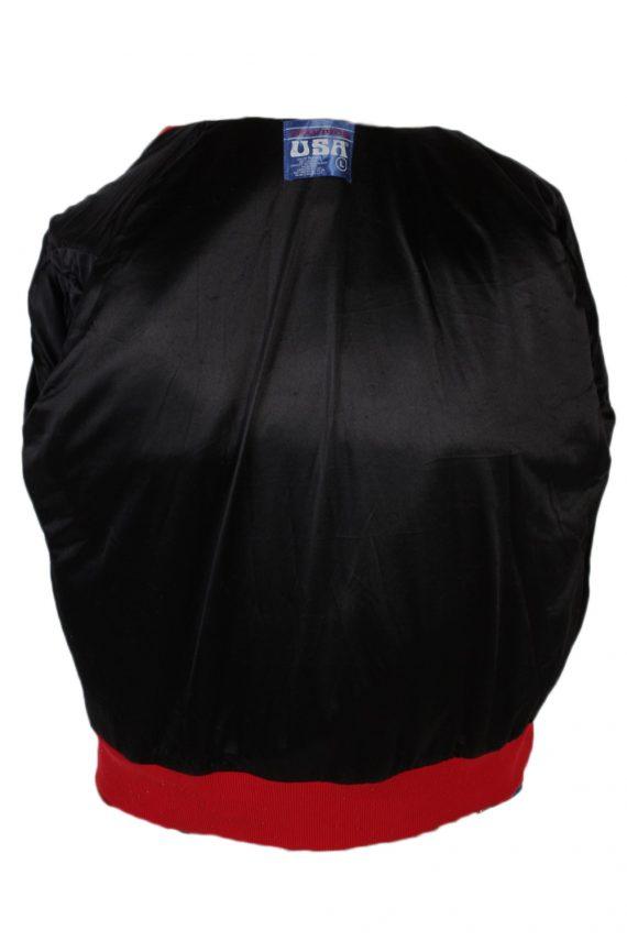 Vintage Awards USA Custom Made Jessica Bomber Jacket Bust 46 Red -C1213-78260
