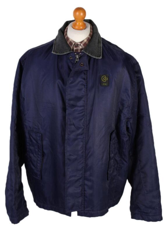 Vintage GStar Raw Zordo Cord Neck Jacket Coat Chest 53 Navy -C1239-0