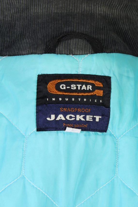 Vintage GStar Raw Zordo Cord Neck Jacket Coat Chest 53 Navy -C1239-78567