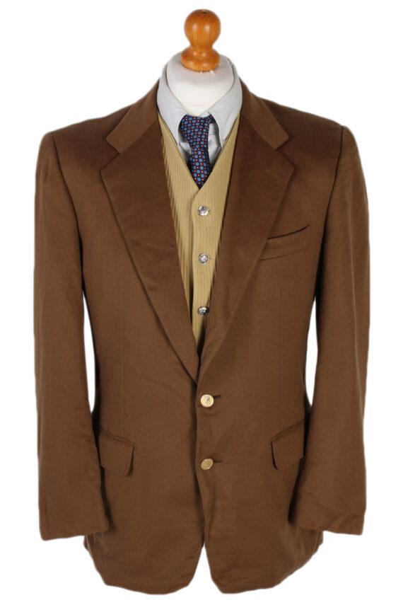 Vintage Burberry's Davide Cenci Cashmere Blazer Jacket Chest 43 Brown HT2118-0