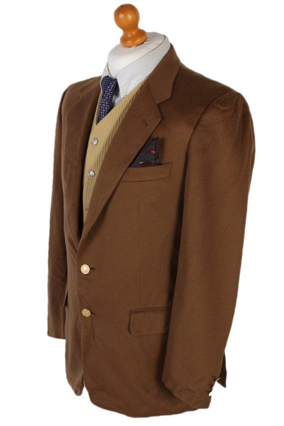 Vintage Burberry's Davide Cenci Cashmere Blazer Jacket Chest 43 Brown HT2118-79058