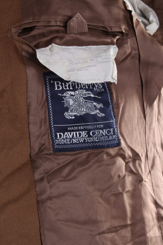 Vintage Burberry's Davide Cenci Cashmere Blazer Jacket Chest 43 Brown HT2118-79060
