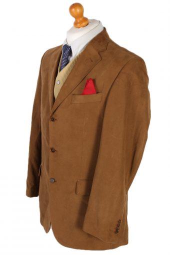 Vintage Pierre Cardin Plain Blazer Jacket Chest 44 Brown HT2120-79066