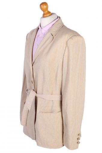 Vintage Escada Belted Smart Jacket Coat Bust 41 Beige HT2142-78979