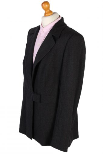 Vintage Escada Smart Jacket Coat Bust 42 Grey HT2144-78989