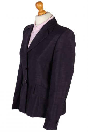 Vintage Escada Smart Jacket Coat Bust 36 Purple HT2146-78999