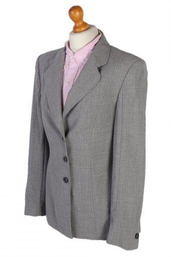 Vintage Escada Smart Jacket Coat Bust 37 Grey HT2147-79004
