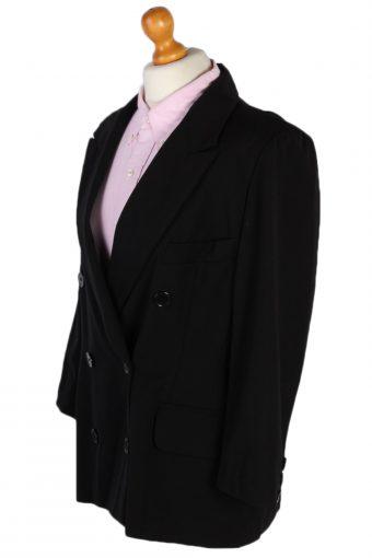 Vintage Escada Double Breasted Margaretha Ley Jacket Coat Bust 42 Black HT2148-79009