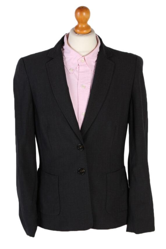 Vintage Escada Smart Jacket Coat Bust 36 Black HT2149-0