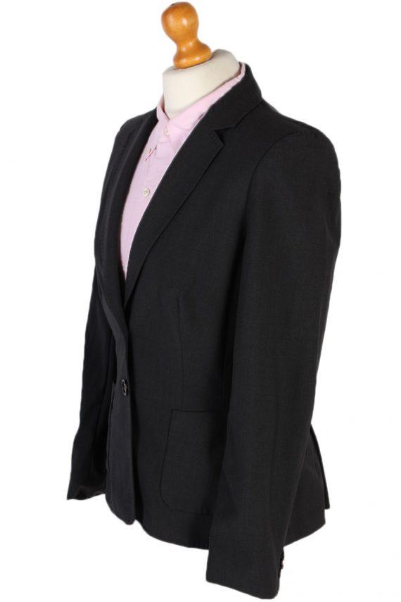 Vintage Escada Smart Jacket Coat Bust 36 Black HT2149-79014
