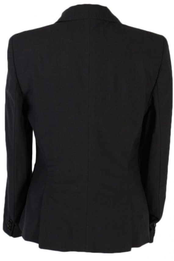 Vintage Escada Smart Jacket Coat Bust 36 Black HT2149-79015