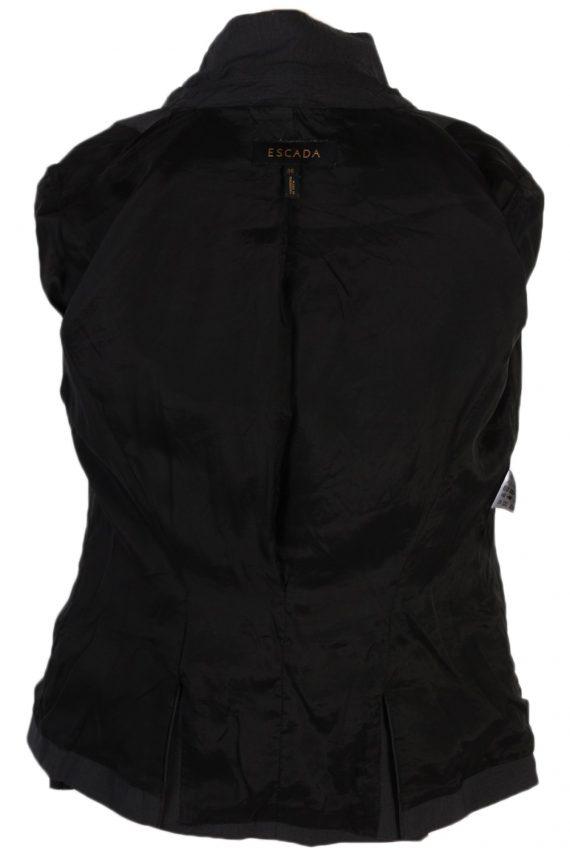 Vintage Escada Smart Jacket Coat Bust 36 Black HT2149-79016