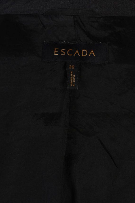 Vintage Escada Smart Jacket Coat Bust 36 Black HT2149-79017