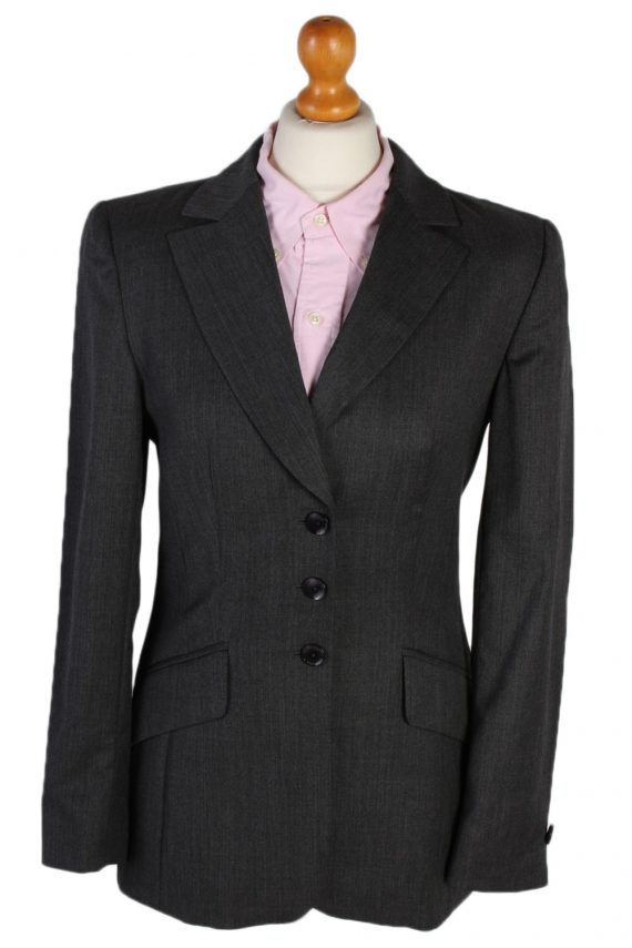 Vintage Escada Smart Jacket Coat Bust 34 Grey HT2152-0