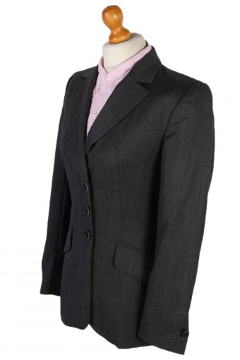 Vintage Escada Smart Jacket Coat Bust 34 Grey HT2152-78929