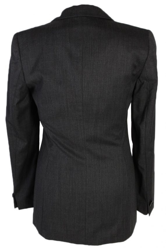 Vintage Escada Smart Jacket Coat Bust 34 Grey HT2152-78930