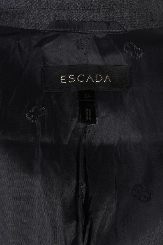 Vintage Escada Smart Jacket Coat Bust 34 Grey HT2152-78932