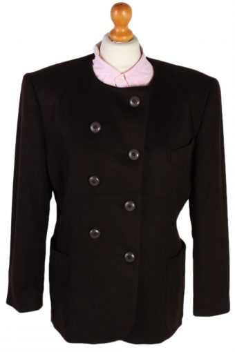 Escada Double Breasted Margaretha Ley Cashmere Jacket Brown L