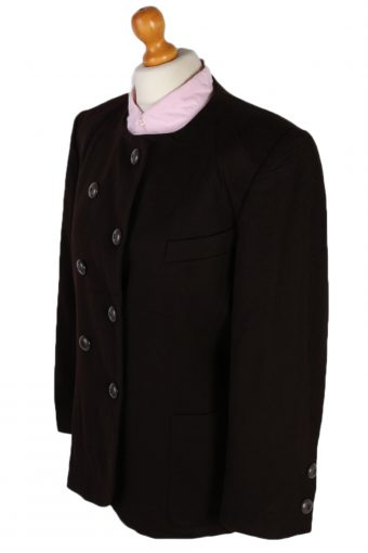 Vintage Escada Double Breasted Margaretha Ley Cashmere Jacket Brown XL - HT2158-78959